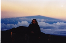 Dot on top of the world at Mauna Kea