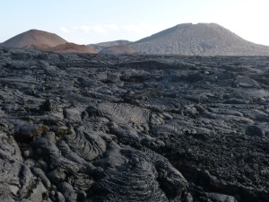 Landscape with lava