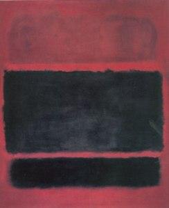 Rothko. Black, Brown on Maroon