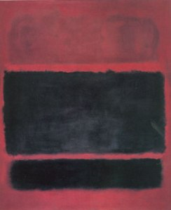 Rothko. Black, Brown on Maroon