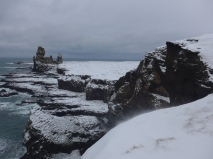 Icing sugar cliffs at Hellnar
